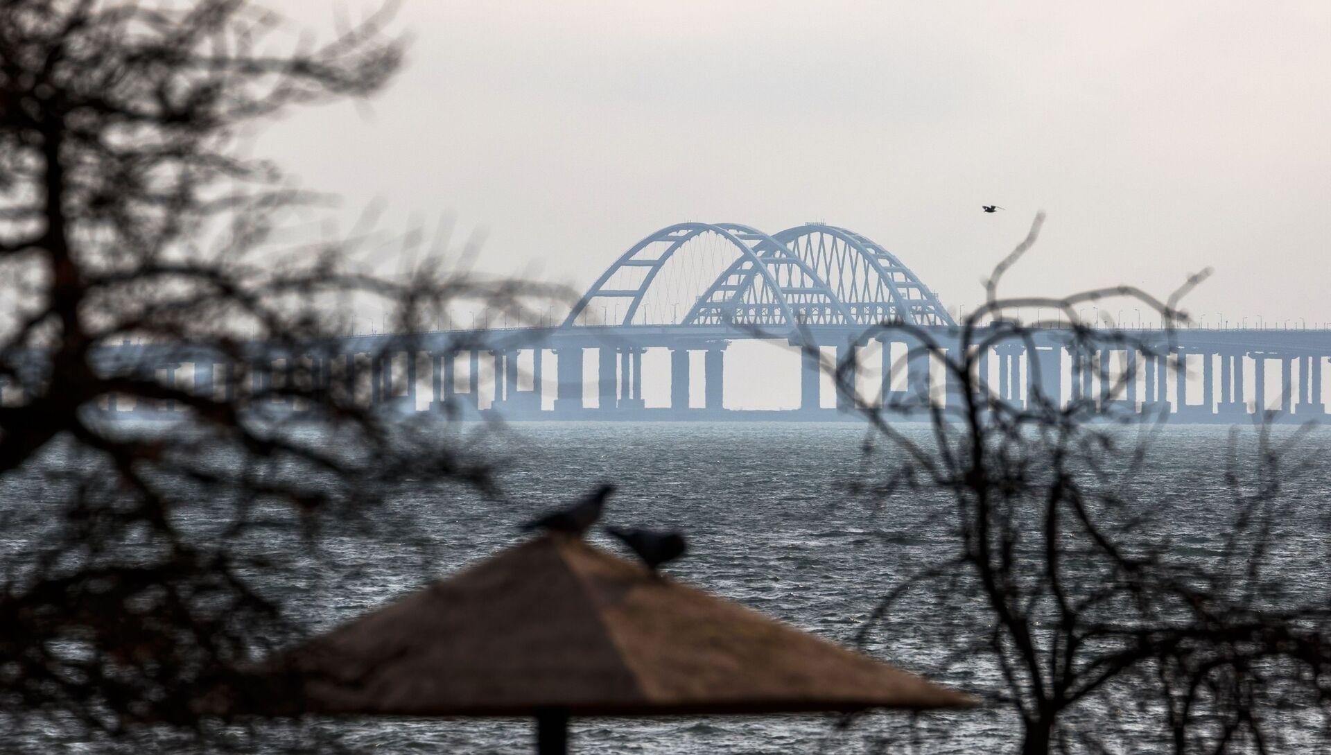 Вид на Крымский мост со стороны Керчи - РИА Новости, 1920, 29.12.2019