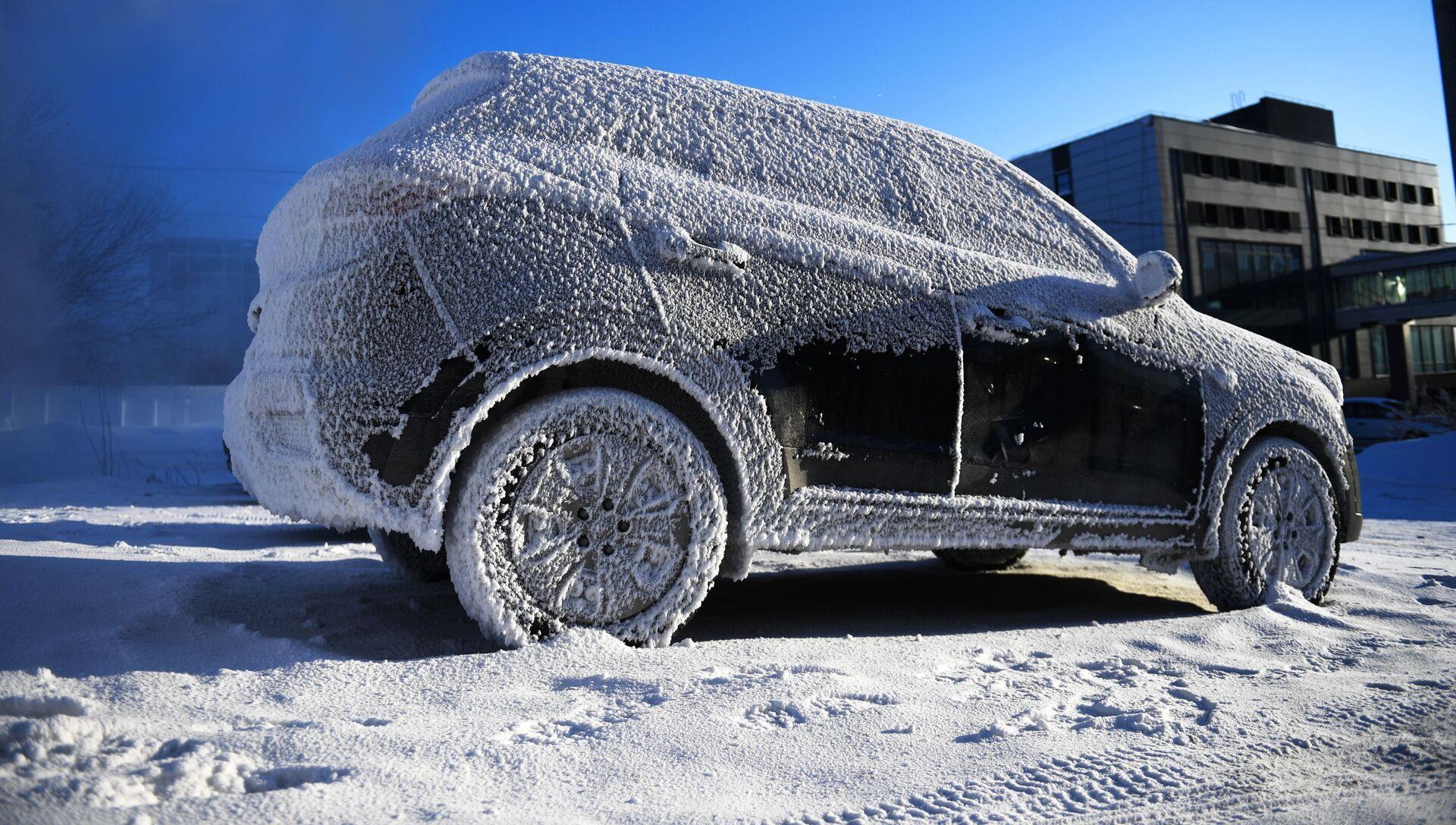 Автомобиль зимой. Архивное фото - РИА Новости, 1920, 22.01.2021
