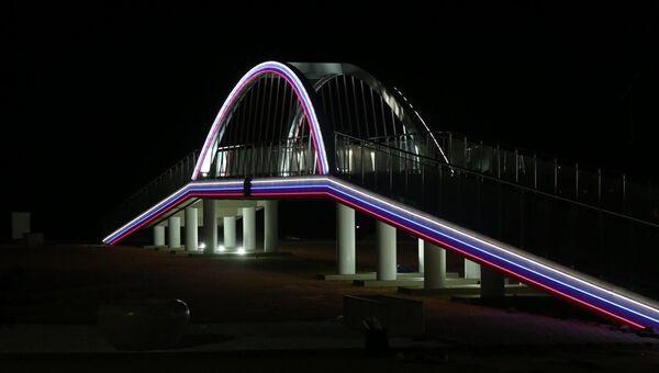 Мини-копия Крымского моста в Керчи