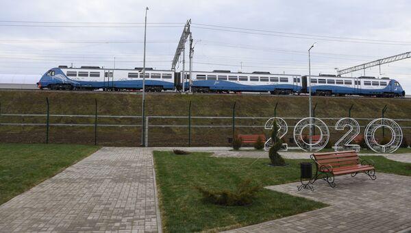 Открытие движения поездов по Крымскому мосту