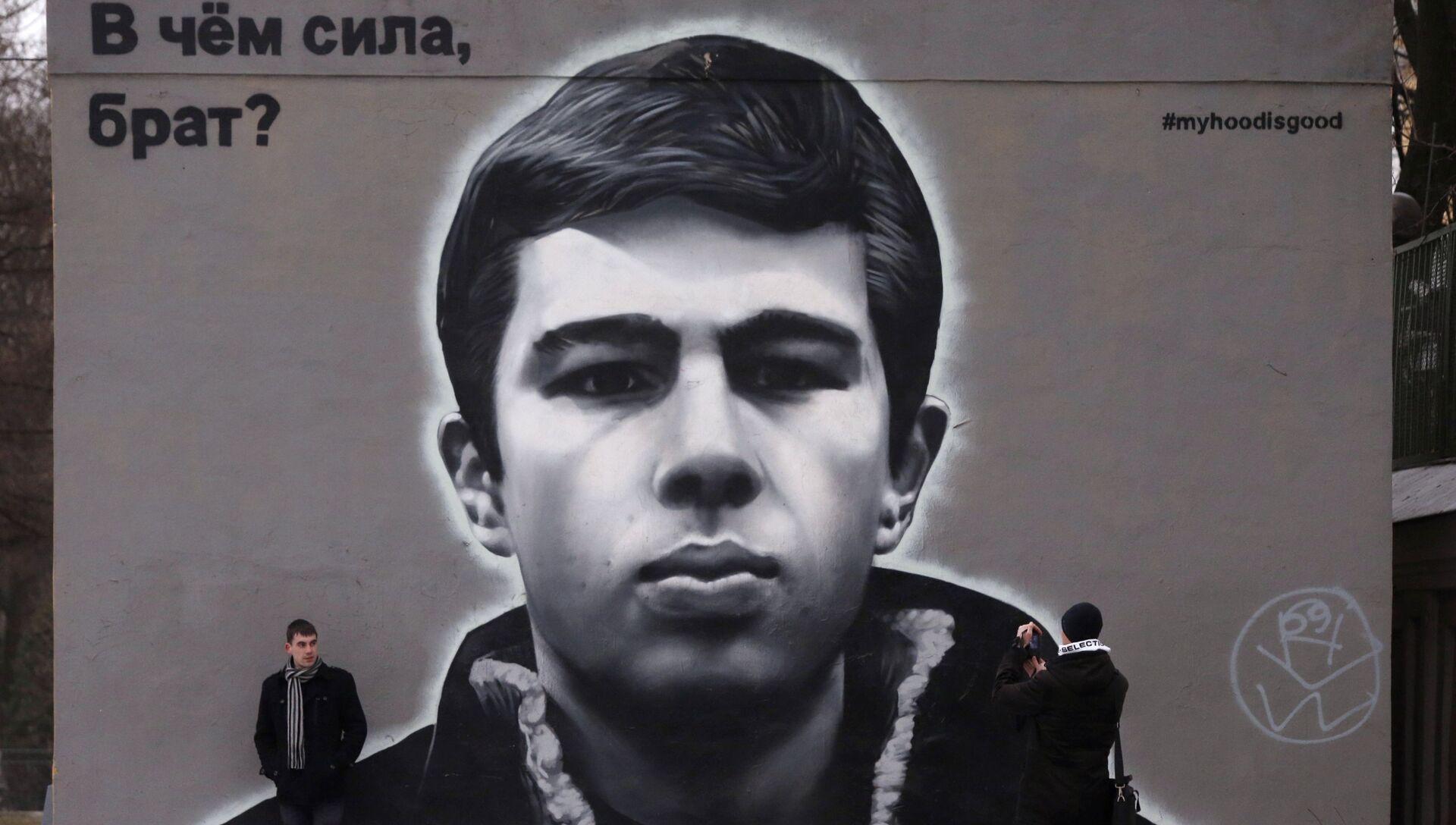 Живопись на стенах домов в Санкт-Петербурге - РИА Новости, 1920, 27.12.2020