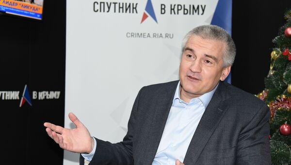 Глава Республики Крым Сергей Аксенов в студии радио Спутник в Крыму