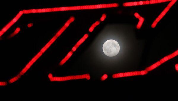 Лунное затмение в Крыму, январь 2020