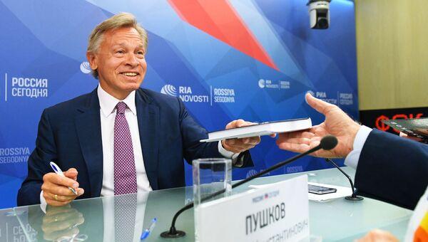 Член Совета Федерации, председатель Комиссии СФ по информационной политике Алексей Пушков