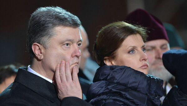 Экс-президент Украины Петр Порошенко с супругой Мариной Порошенко. Архивное фото