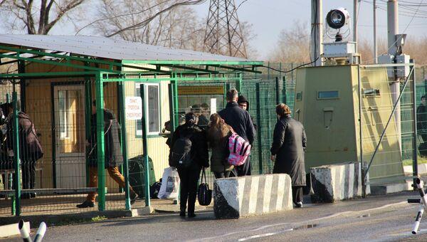 Пункт пропуска на границе с Крымом. Архивное фото