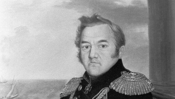 Репродукция портрета адмирала Михаила Петровича Лазарева