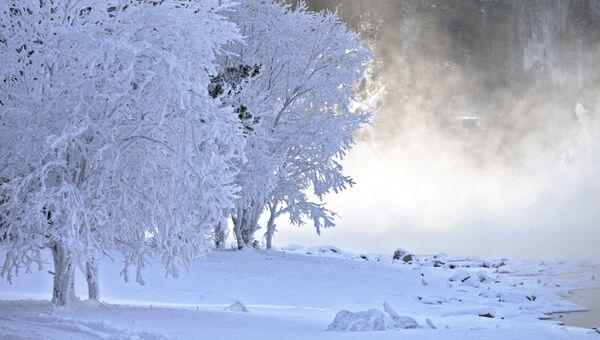 Мороз в Красноярском крае
