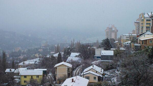 Зимняя Ялта. Фото из группы Люди Ялты
