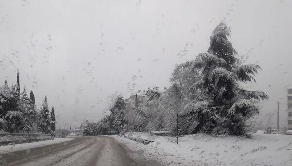 В Ялте выпал первый снег