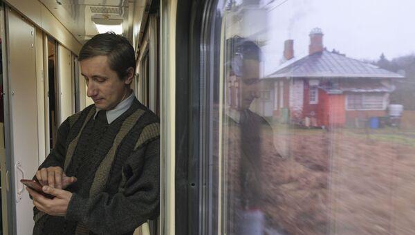 Пассажир в поезде Таврия, следующем по маршруту Санкт-Петербург - Севастополь