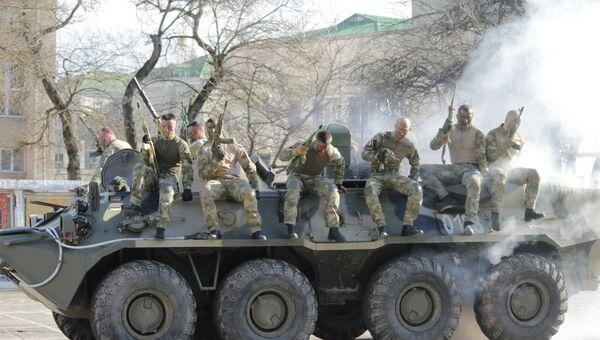 В Симферополе прошли показательные выступления спецназа Росгвардии