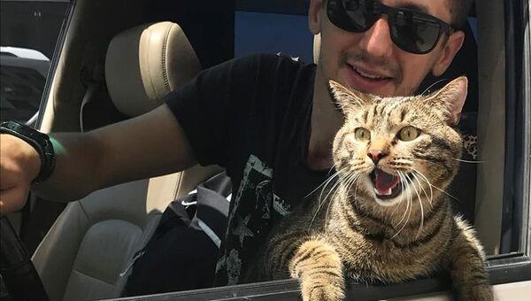 Кот Виктор и его хозяин