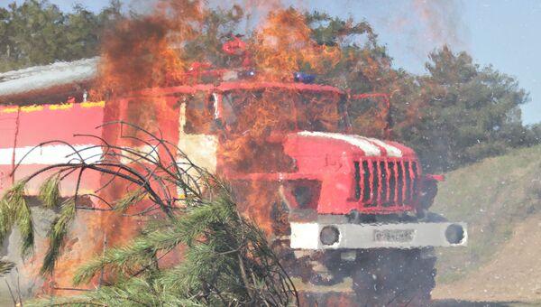 Лесной пожар в Крыму. Архивное фото
