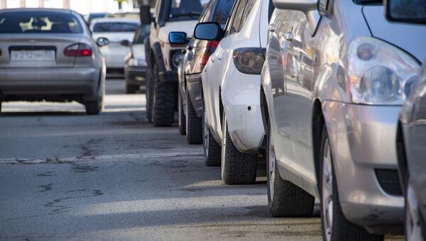 Автомобильная пробка в Симферополе