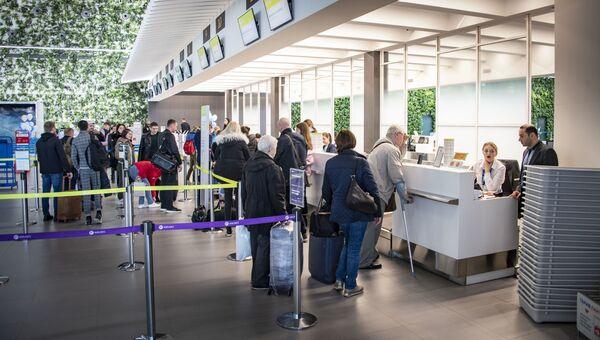 Симферопольский аэропорт стойка регистрации