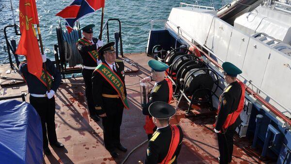 Место проведения мероприятия символизирует морской рубеж двух субъектов РФ