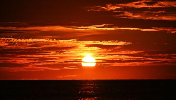 Закат над Лаккадивским морем
