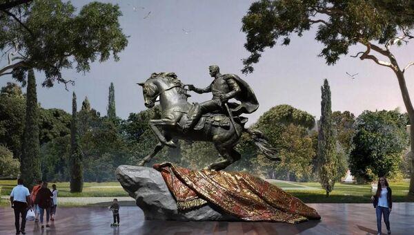 Эскиз памятника генералу от инфантерии Петру Котляревскому в Феодосии