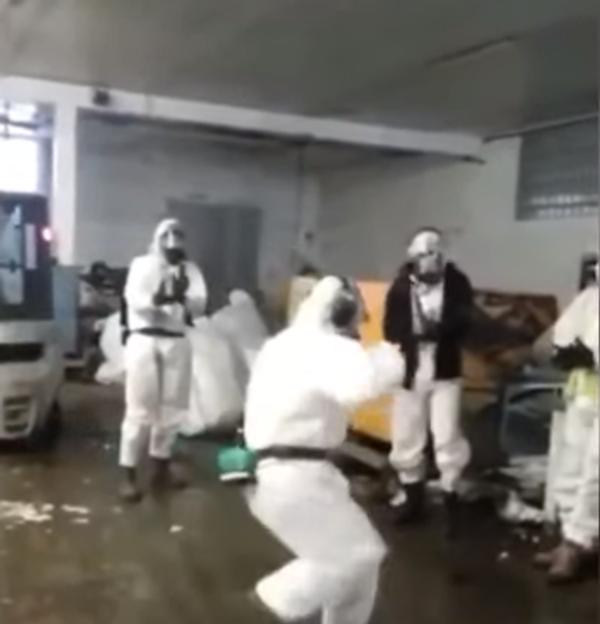Лезгинкой по коронавирусу: зажигательный танец в защитных костюмах
