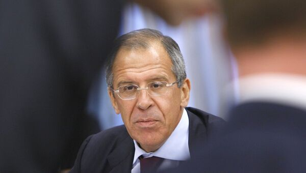 Министр иностранных дел РФ Сергей Лавров на заседании президиума правительства России. 2008 год