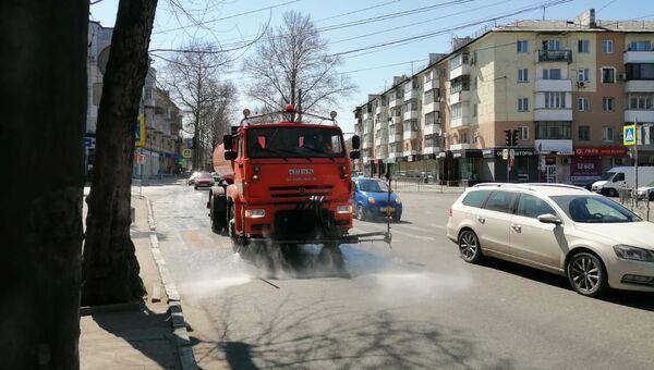 Уборка улиц Симферополя