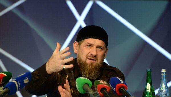 Пресс-конференция главы Чеченской Республики Р. Кадырова