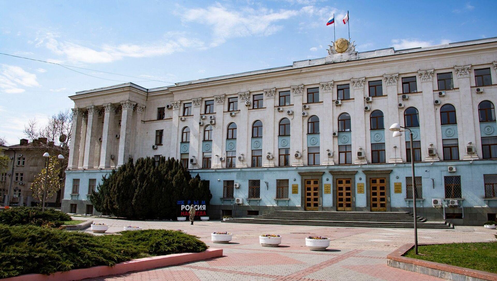 Весна карантин здание совмина - РИА Новости, 1920, 23.04.2021