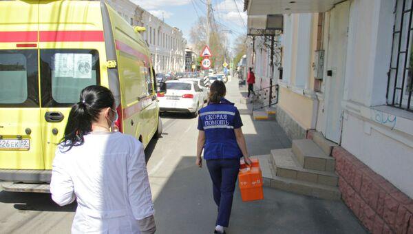 Работа сотрудников скорой помощи в Симферополе