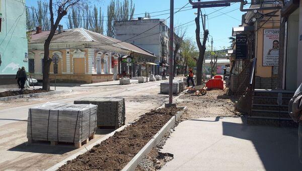 Ремонт улиц в Феодосии