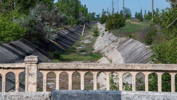 Северо-Крымский канал без воды весна