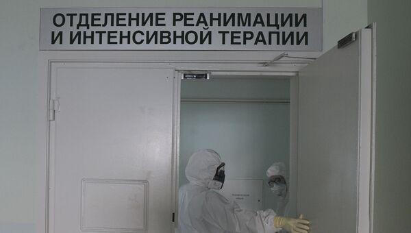 Госпиталь COVID-19 в больнице № 122 им. Л. Г. Соколова