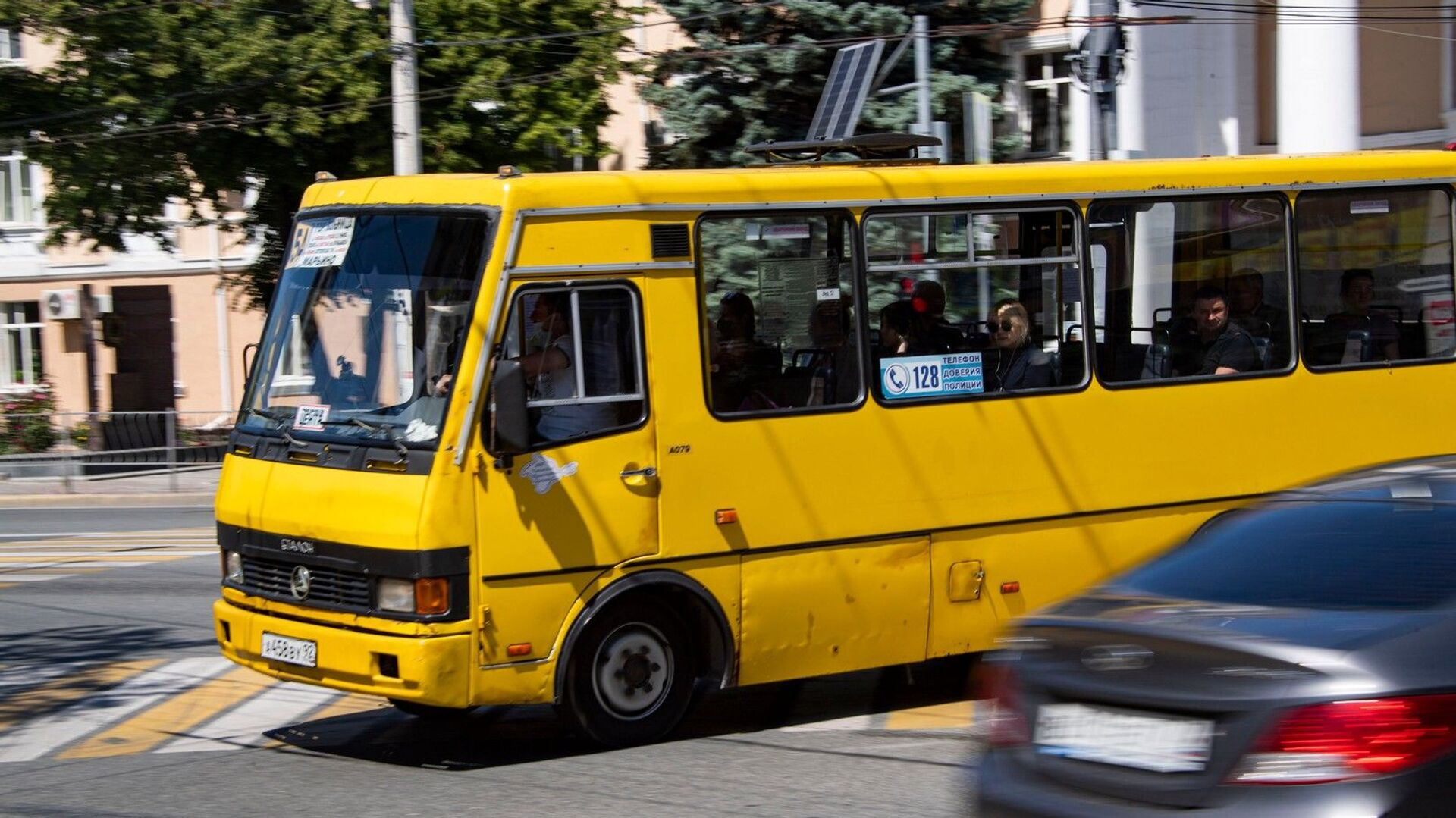 Автобус город улица транспорт - РИА Новости, 1920, 03.11.2020