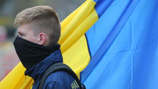 Акция националистов против П. Порошенко в Киеве