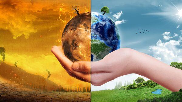 Глобальное потепление. Коллаж