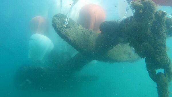 Со дна моря в Крыму подняли пятитонный якорь с линкора