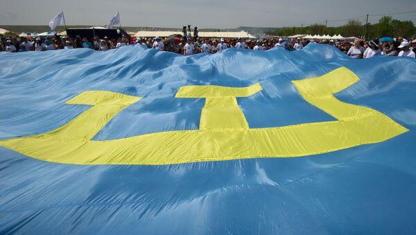 В Крыму испекли самый большой в мире чебурек