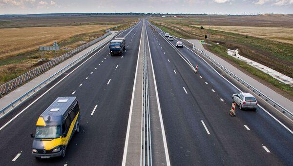 Открытие автомобильного движения по всем четырем полосам Тавриды на участке от Керчи до Белогорска