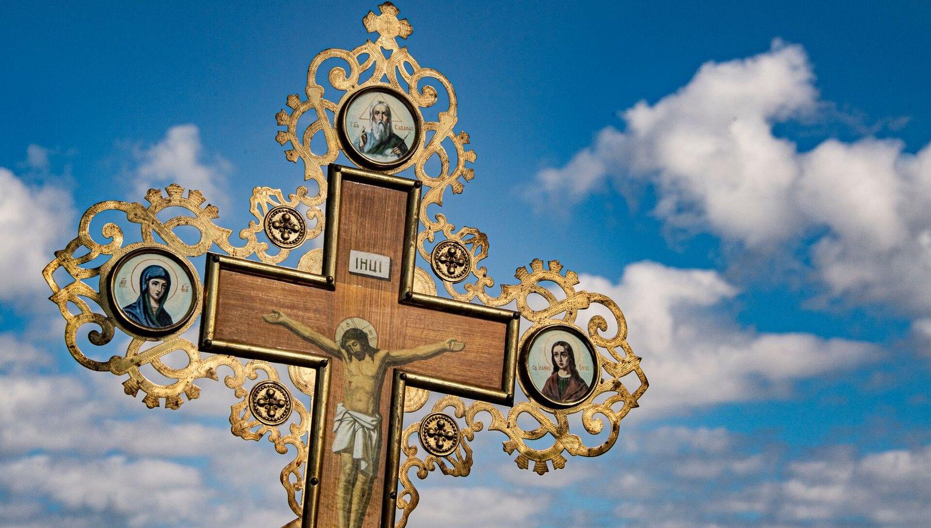 Запрестольный крест - РИА Новости, 1920, 18.01.2021