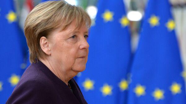 Федеральный канцлер ФРГ Ангела Меркель на саммите ЕС в Брюсселе