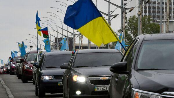 Акция крымских татар в Киеве. Архивное фото