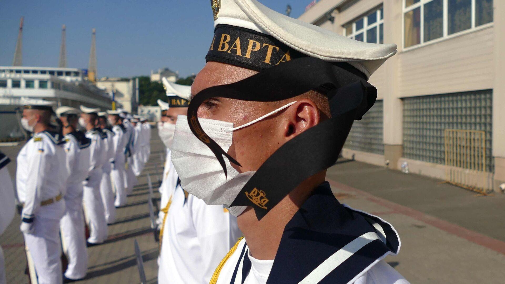 Украинские моряки принимают участие в торжествах в честь Дня ВМС Украины - РИА Новости, 1920, 05.08.2021