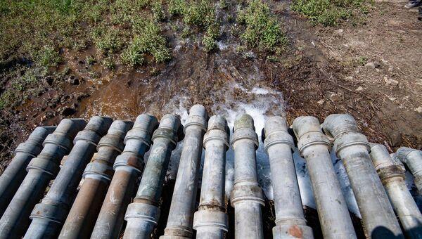 Подача воды в симферопольское водохранилище