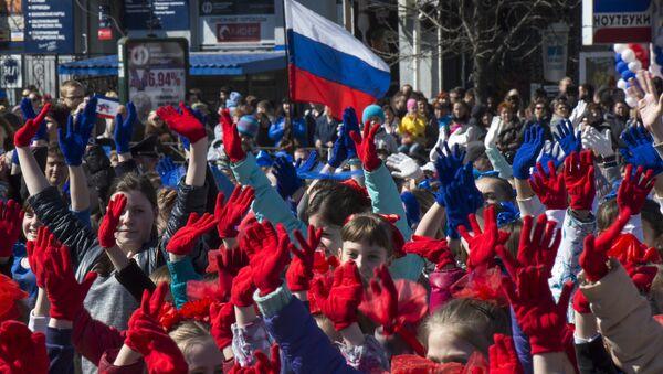 Празднование годовщины Крымской весны в Симферополе