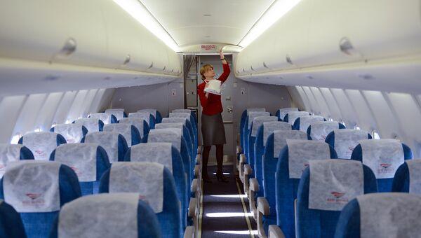 Передача в эксплуатацию самолета SSJ-100 авиакомпании Red Wings