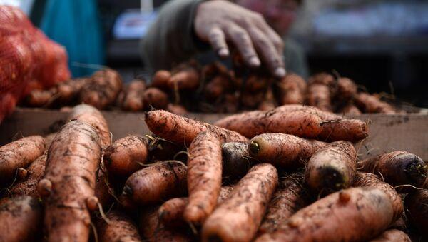 Продавец моркови