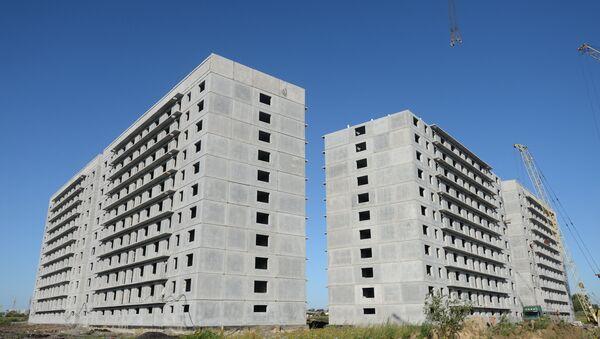 Строительство нового микрорайона Просторный в Новосибирске