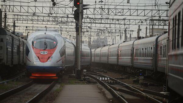 Торжественный запуск высокоскоростного поезда