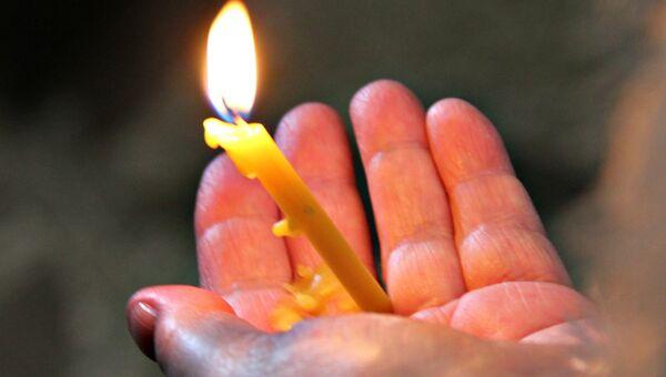 Встреча Благодатного огня в Симферополе