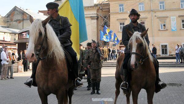 Марш сторонников УПА во Львове